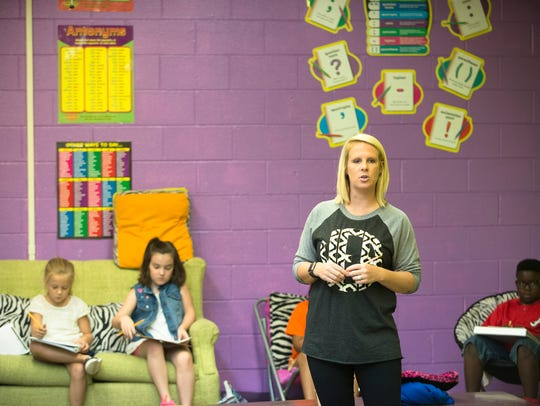 Shay Nobles teaches her class at Wetumpka Elementary