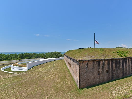 Fort Barrancas is located on Pensacola Naval Air Station.