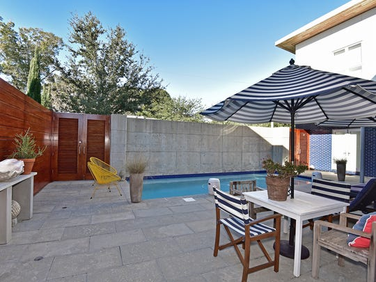 1708 Osceola Boulevard, the private courtyard and pool area.