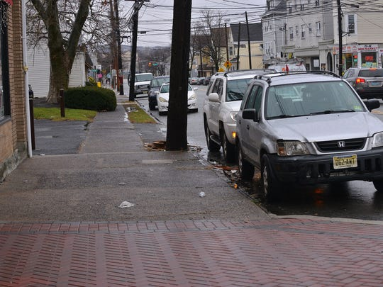 Haledon is preparing for Phase III of its streetscape project for Belmont Avenue. This will be from Harris to Henry Streets in Haledon, NJ. January 24, 2017.
