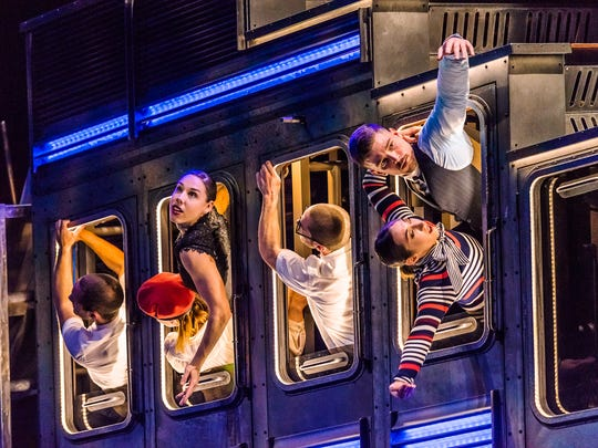 """Diavolo: Architecture in Motion performing """"Passengers."""""""