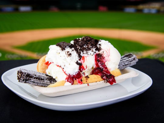 The Churro Dog 2.0 is a new food item offered for the Diamondbacks season.