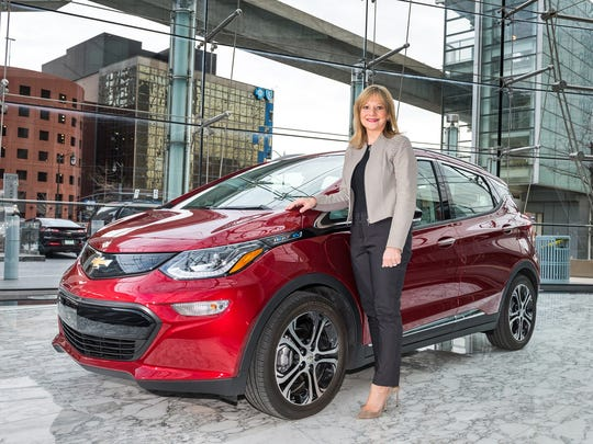 General Motors Chairman and CEO Mary Barra with a 2017