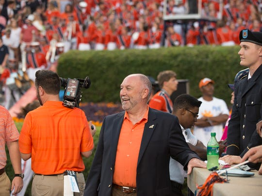 Auburn president Steven Leath during the NCAA football