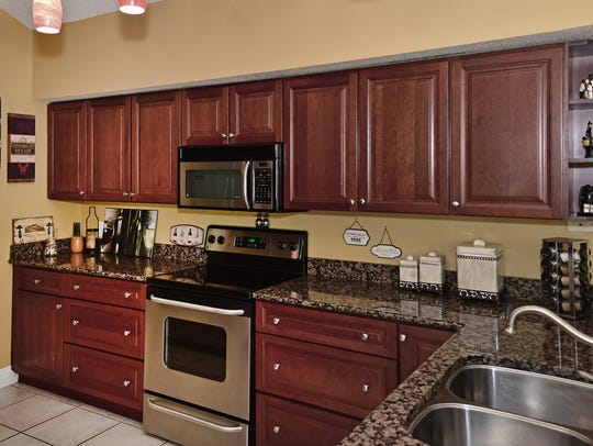 1106 Laguna Lane, the kitchen is open and includes
