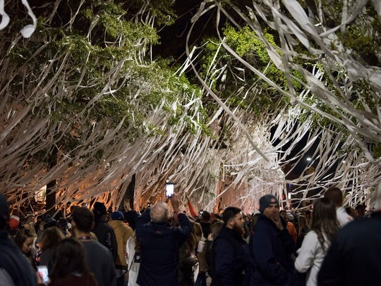 Auburn fans roll Toomer's Corner after the NCAA football