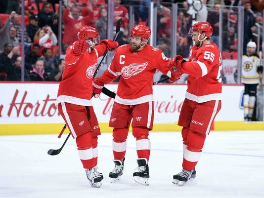 NHL: Boston Bruins at Detroit Red Wings