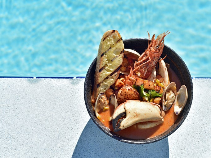 Chef Eric Troup's Caribbean Seafood Chowder, courtesy