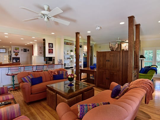 221 Chipley Avenue, the living space opens to the kitchen.