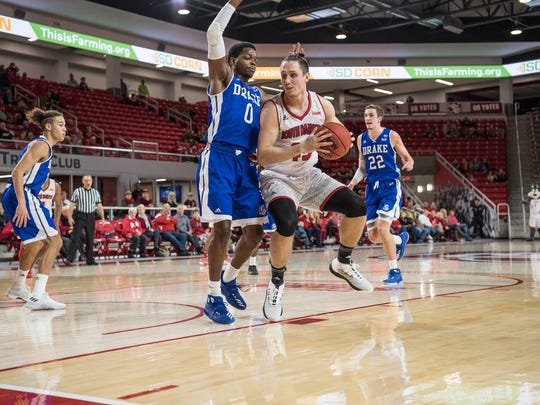 Austin Sparks is a senior on the South Dakota men's