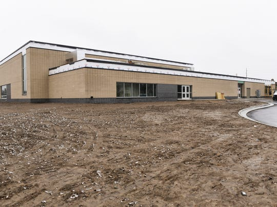 Construction continues at Fairview Elementary, Thursday,