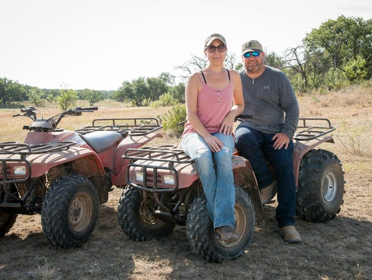 Sixth generation Texas rancher Amy Greer and her husband