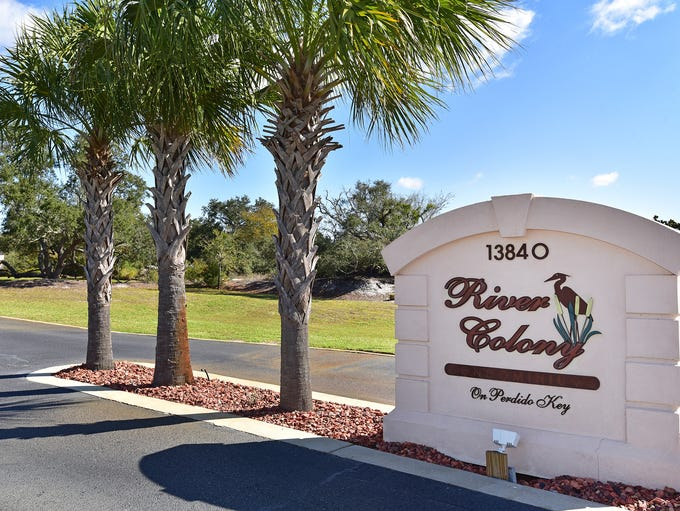 13840 River Road, River Colony entry.