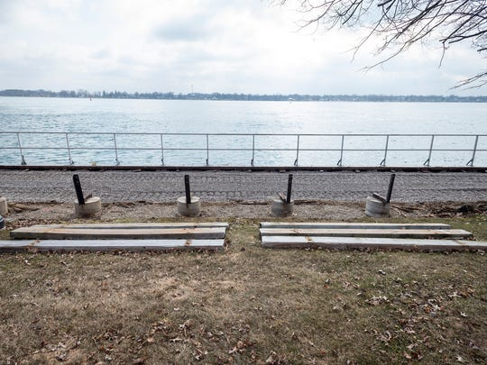 A new foundation has been laid for the boardwalk in St. Clair. Once the foundation has been completed, new boards will replace the old boards that date from the 1960s.