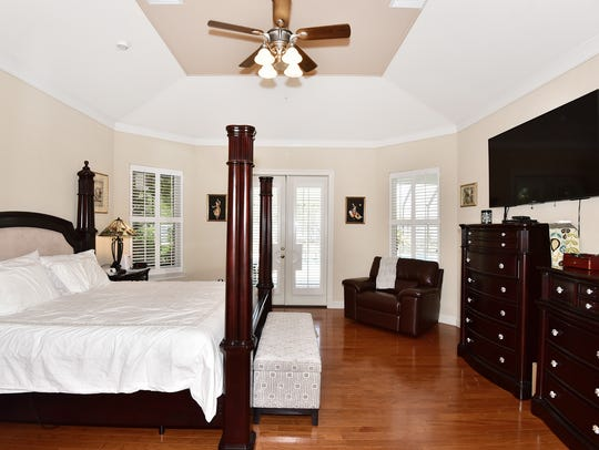 1444 West Shores Boulevard, the master bedroom with