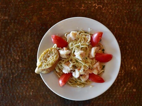 Key Lime Shrimp Scampi, courtesy of Hemingway's Island