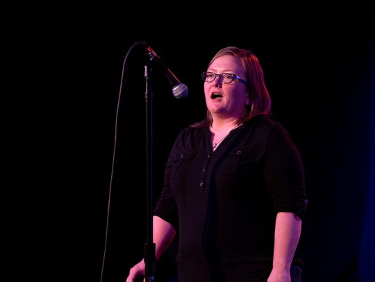 Kylie Digges tells her tale during Arizona Storytellers:
