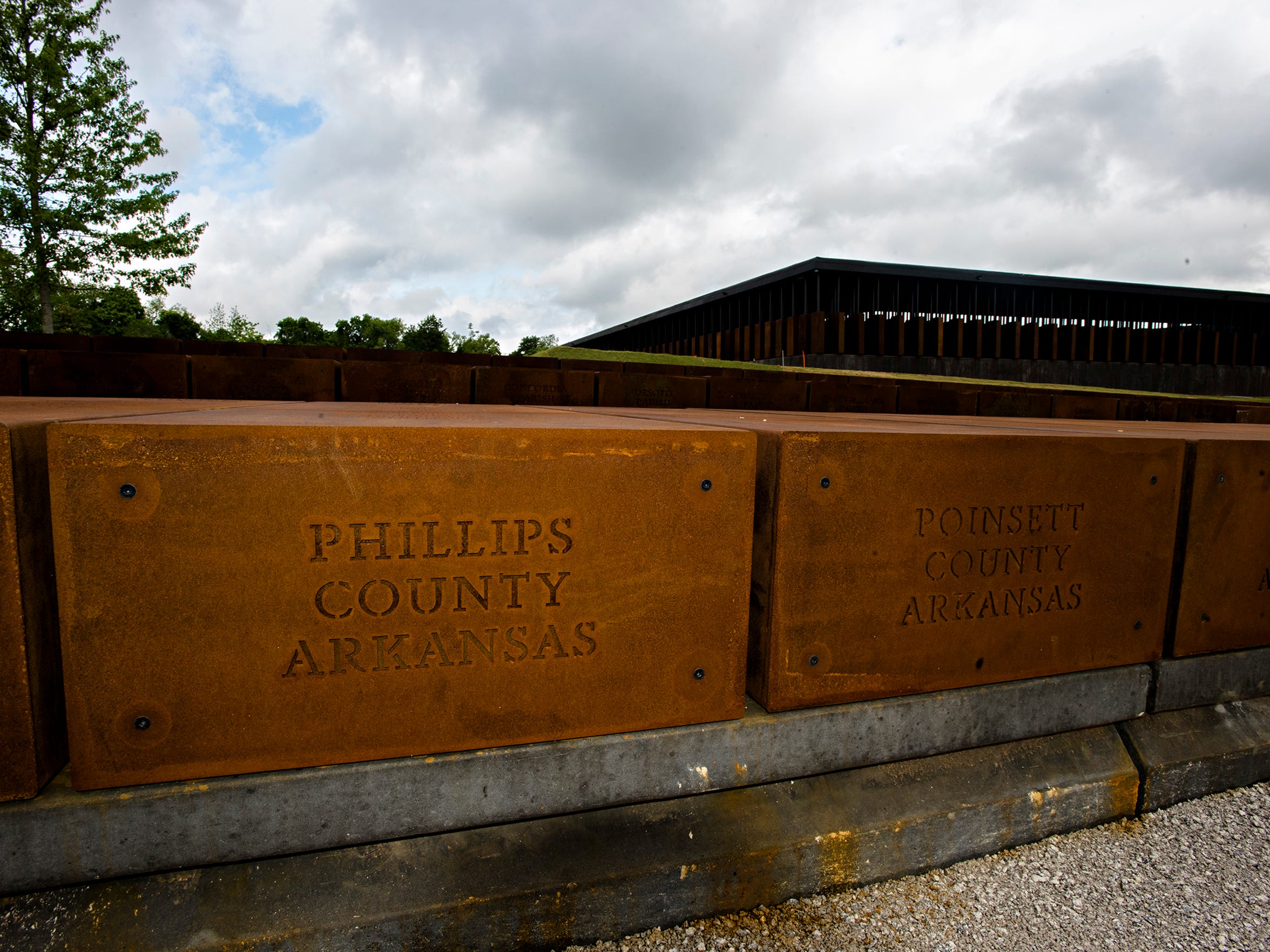 A marker noting the lynchings in Phillips County, Ark.,