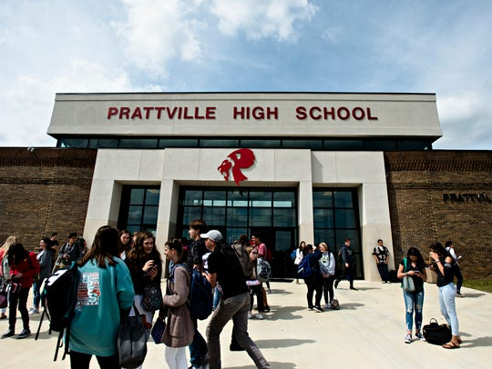 Prattville High School students leave at the final