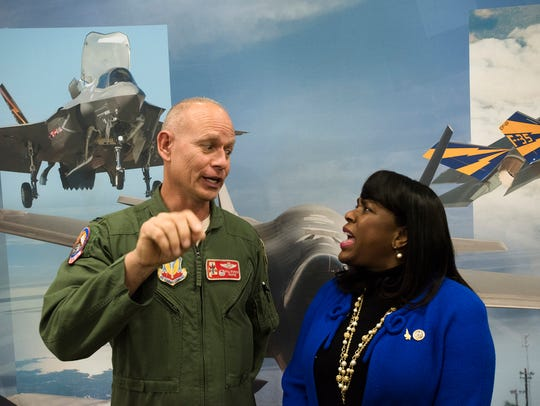 Congresswoman Terri Sewell and Col. Will Sparrow speak