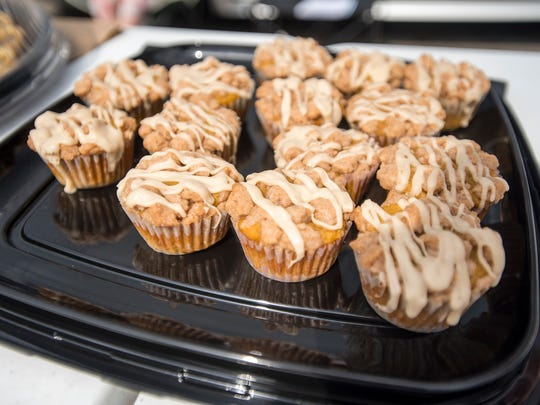 Baked goods prepared by Shannon Anders sit on display