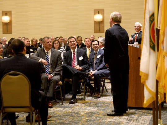 GOP Rep. Rodney Frelinghuysen (R-NJ 11th District) makes a public speech at the Morris County Chamber of Commerce Washington Update breakfast, his first since announcing his retirement. The breakfast was held at the Wyndham Hamilton Park Hotel in Florham Park on Monday, May 14, 2018.