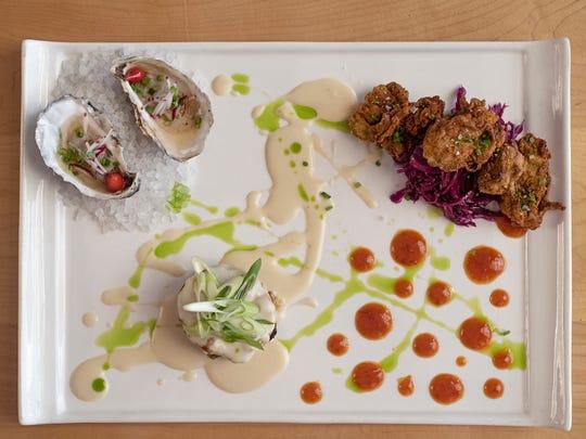 Gulf Oysters Three Ways, Restaurant IRON.