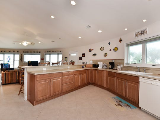 803 Rio Vista Drive, the kitchen with ample counter