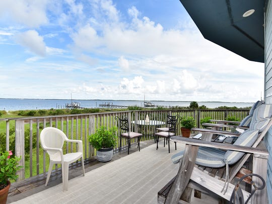 803 Rio Vista Drive, the deck offers a fabulous water