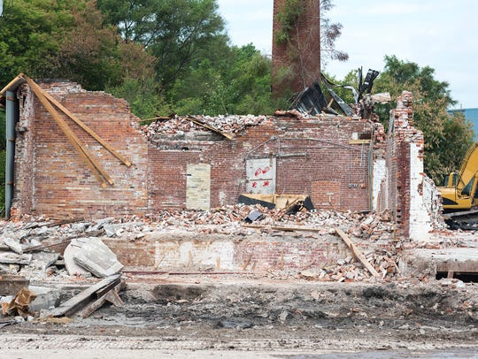 Demolition continues on the former Chicory Warehouse