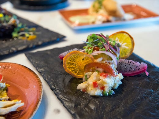 The Strong Water Tavern ceviche bar features fresh