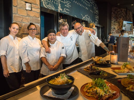 The kitchen team at Strong Water Cafe in Loews Sapphire