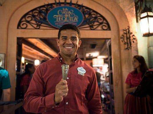 Humberto Soto, with La Cava del Tequila at Epcot's