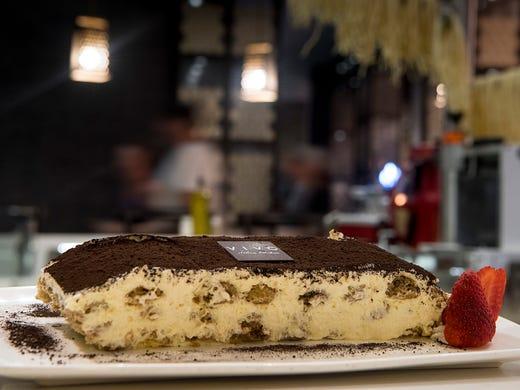 The toothsome tiramisu at Vivo Italian Kitchen is made