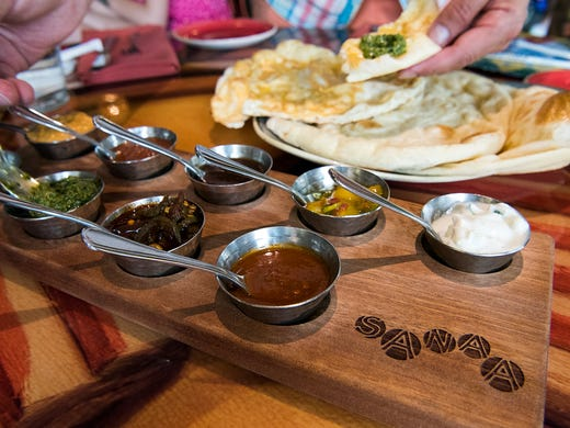The naan service is one of the most-popular menu items
