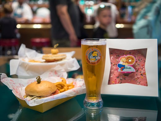 Fun foods are on the limited menu at Moe's Tavern,