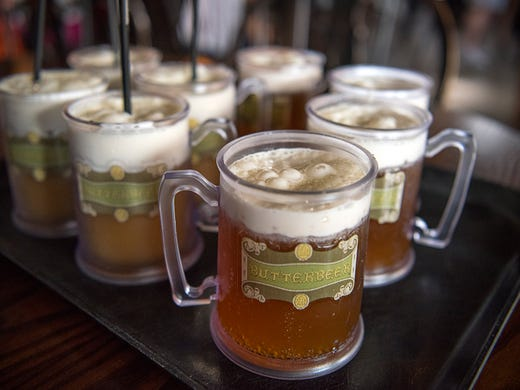 Order a Butterbeer at Three Broomsticks restaurant