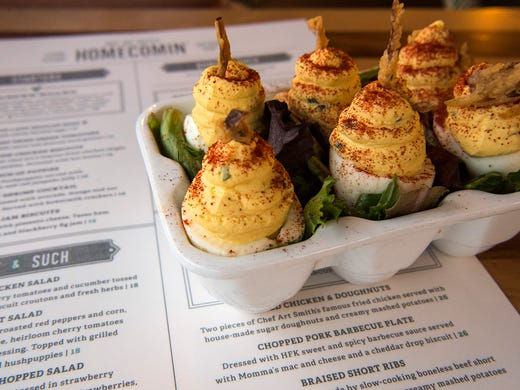 """The """"Church Lady Deviled Eggs"""" at Art Smith"""