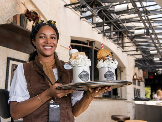 Alexis Thompson, a server at Toothsome Chocolate Emporium,