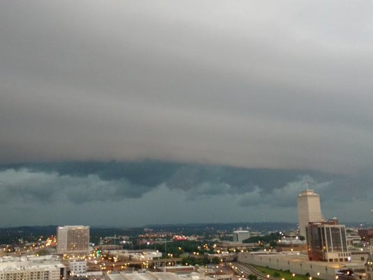 Severe Weather Downtown Nashville Clouds