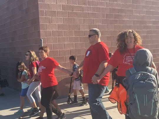 Teachers at Tarwater Elementary in Chandler participate