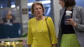 GOP Sen. Shelley Moore Capito of West Virginia, a crucial vote on health care bill, June 22, 2017, Washington, D.C.