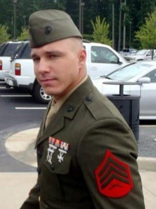 Derrick in uniform