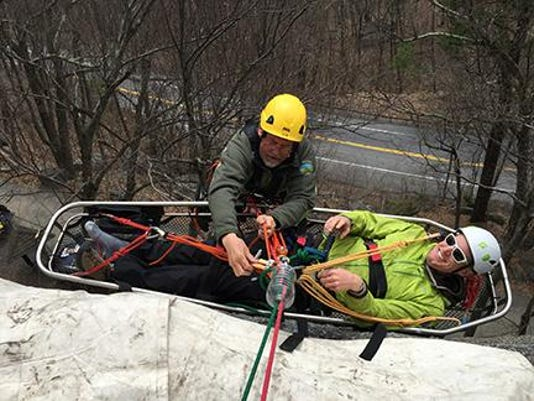 Rescue training at Mohonk Preserve. Photo by Frank Tkac