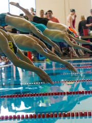 High School Swimming: Region 9 Championships at the Cedar City Aquatic Center, Saturday, Jan. 28, 2017, in Cedar City, Utah.