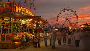 2006: The sun goes down and the Delaware State Fair midway lights up.