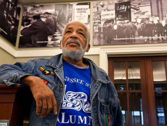 Former Metro Councilman Kwame Leo Lillard stands in
