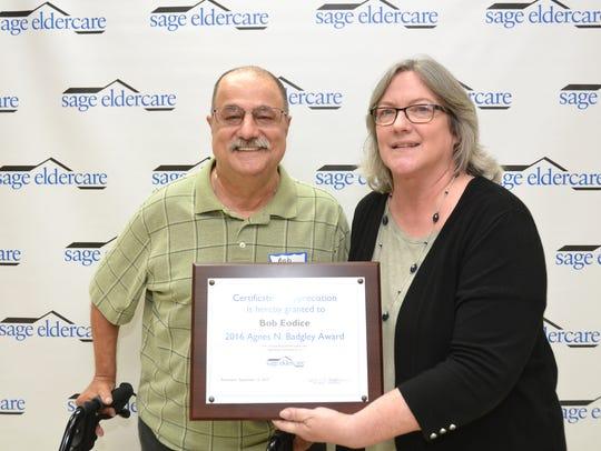 On Sept. 12, SAGE Eldercare presented Bob Eodice of