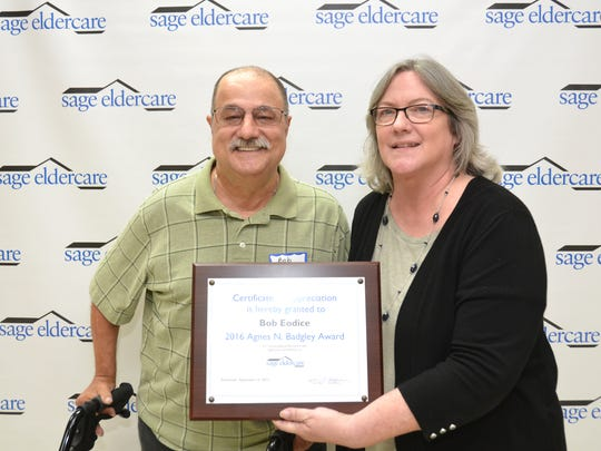 On Sept. 12, SAGE Eldercare presented Bob Eodice of