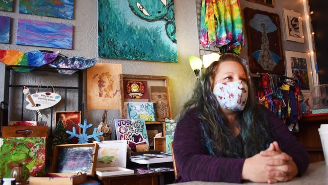 Stephanie Enloe talks about Craftyish, a new pop-up shop inside Gnome Create in Fall River.
